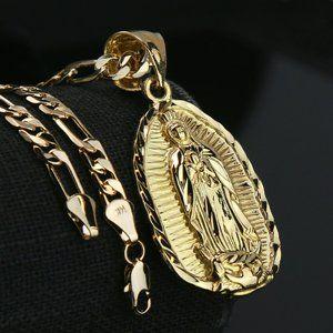 """14k Gold PT Charm Pendant 5mm 24"""" Necklace Chain"""